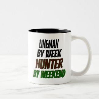 Lineman Hunter Two-Tone Coffee Mug