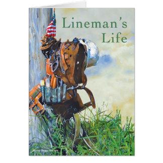 Lineman's Life Original Painting and Poem Card
