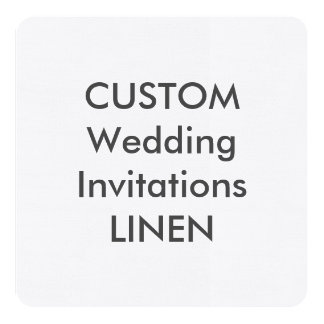 "LINEN 100lb 5.25"" Square Wedding Invitations"