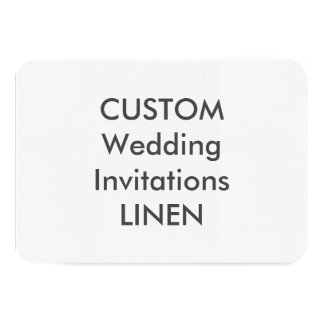 "LINEN 100lb 5"" x 3.5"" Wedding Invitations"
