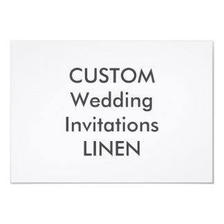 """LINEN 100lb 7.5"""" x 5.5"""" Wedding Invitations"""