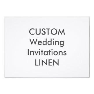 """LINEN 100lb 7"""" x 5"""" Wedding Invitations"""