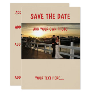 """Linen 5"""" x 7"""",SAVE THE DATE  envelopes included Card"""