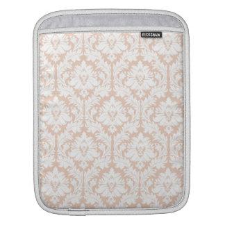 Linen Beige Damask Sleeve For iPads