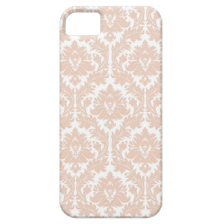 Linen Beige Damask Pattern Barely There iPhone 5 Case