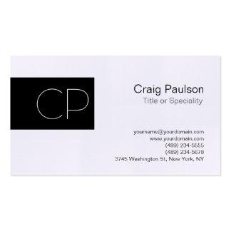 Linen Black Unique Amazing Monogram Business Card