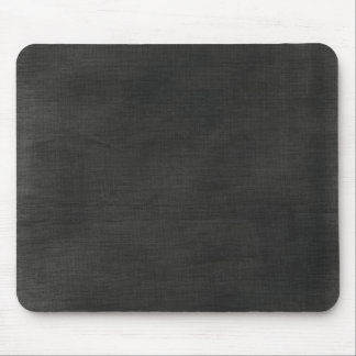 Linen Fabric Background Texture / Chalkboard Black Mousepad