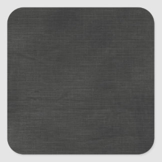 Linen Fabric Background Texture / Chalkboard Black Square Sticker
