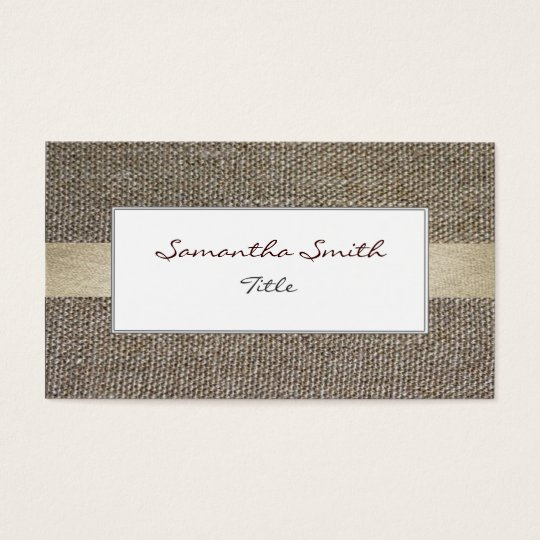 Linen fabric ecological elegant Business card