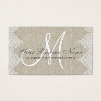 Linen Lace Simple Plain Monogram