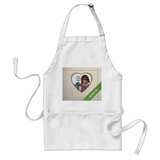 Linen Look Heart Frame: Add a Photo and Text Aprons
