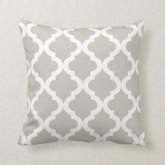 Linen Moroccan Quatrefoil Print Cushion