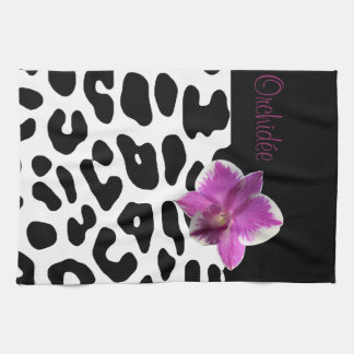 Linen of kitchen Leopard/Orchis Tea Towel