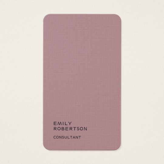Linen Plain Dusty Rose Trendy Modern Minimalist Business
