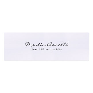 Linen Slim Special Unique Modern Professional Pack Of Skinny Business Cards