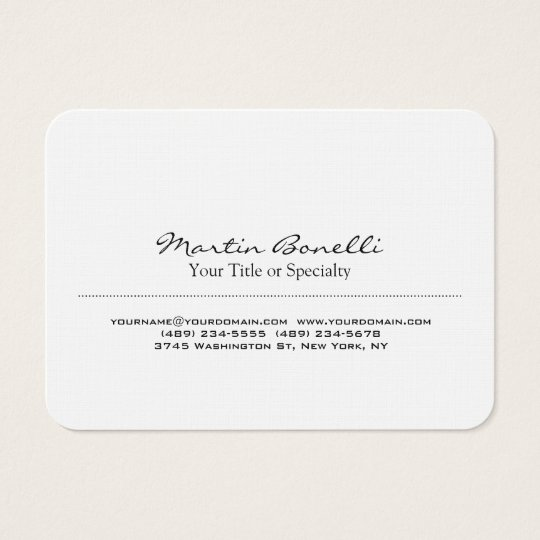 Linen Special Unique Modern Professional Business Card
