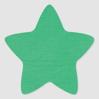 Linen Texture Fabric Background // Kelly Green Star Sticker