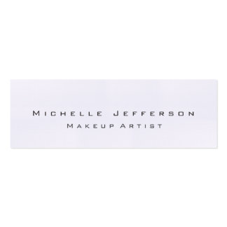 Linen Trendy Makeup Artist Stylish Business Card