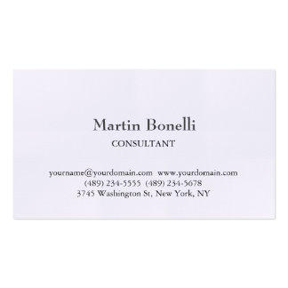 Linen Unique Classical Simple White Pack Of Standard Business Cards