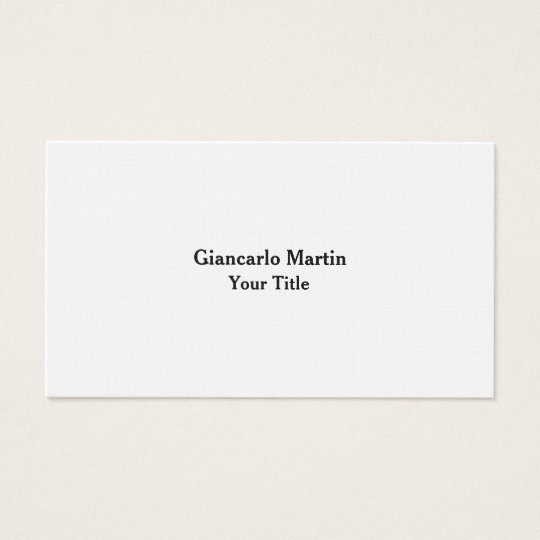 Linen Unique Original Plain Masculine Minimalist Business Card