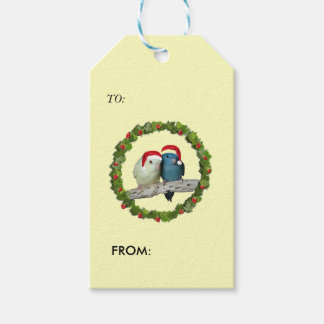 Lineolated Parakeet Santas Gift Tags