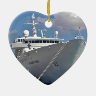 Liner Aegean Pearl Ceramic Heart Decoration
