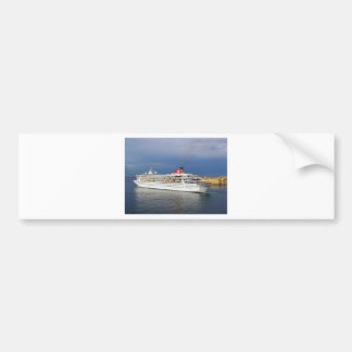 Liner leaving Malta. Bumper Sticker