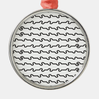 Lines_1.ai Silver-Colored Round Decoration