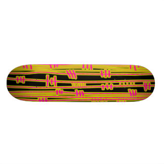 Lines Abstract - 02 - Retro Skateboard Deck