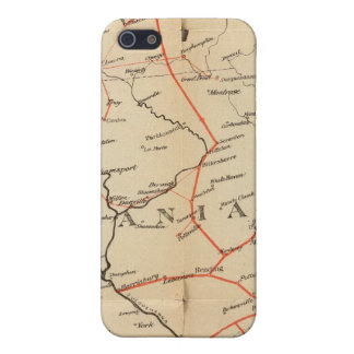 Lines and Metallic Circuit Connections iPhone 5/5S Cover