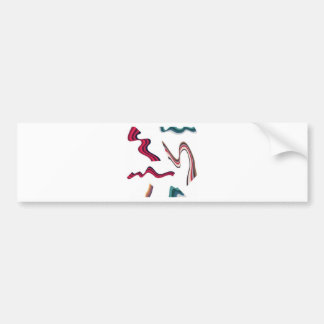 Lines and ribbons graphics design bumper stickers