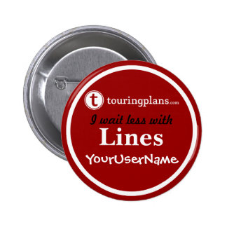 Lines Button - Design 2 (Red)