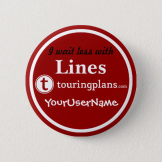 Lines Button - Design 3 (Red)