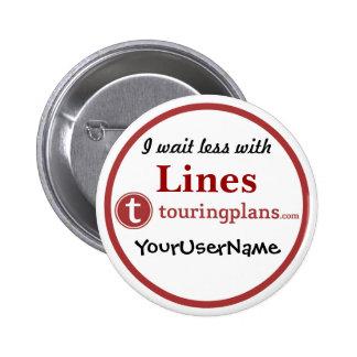 Lines Button - Design 3 White