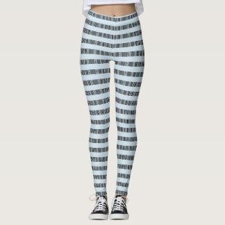 lines codigo de barra style leggings