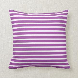 lines purple cushion