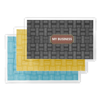 Lines Yellow, Black or Blue Serving Trays