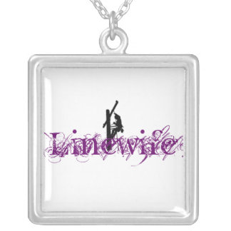 Linewife Charm in Purple Silver Plated Necklace