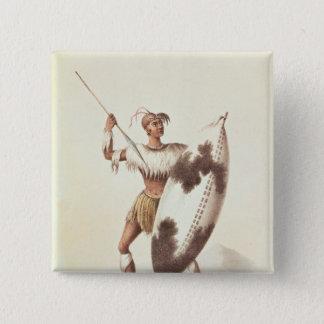 Lingap, a Matabili Warrior 15 Cm Square Badge