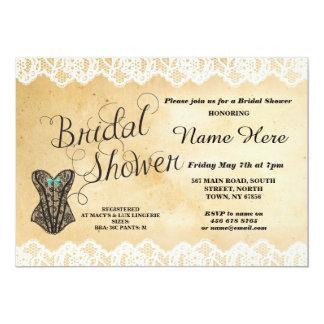 Lingerie Bridal Shower Party Lace Corset Invite