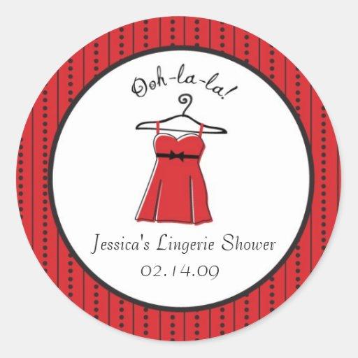 Lingerie Bridal Shower Stickers