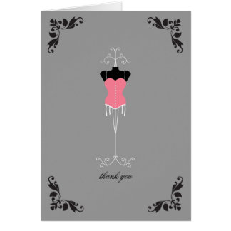 Lingerie Bridal Shower Thank You Notes Note Card