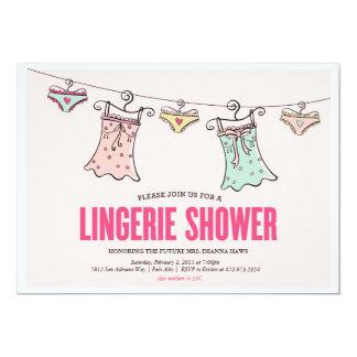 Lingerie Shower Bachelorette Party Wedding Shower Card
