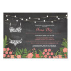 Lingerie Shower Bridal Bachelorette Coral Invite