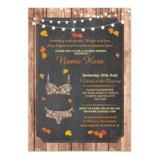 Lingerie Shower Bridal Party Autumn Lace Invite