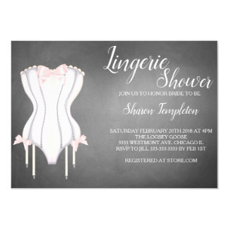 Lingerie shower bridal shower corset invitation