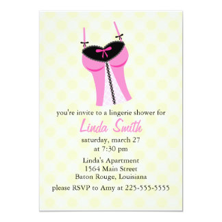 Lingerie Shower Card