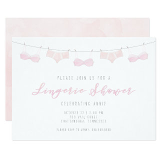 Lingerie Shower Invitation - Watercolor