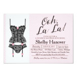 Lingerie Shower Invite, Ooh La Black & Pink Lace 13 Cm X 18 Cm Invitation Card
