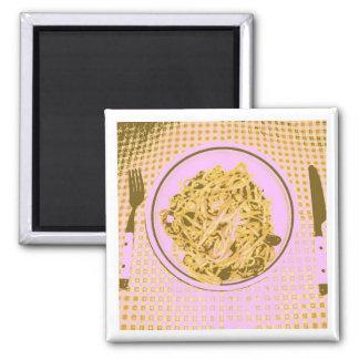 Linguine Pasta Square Magnet